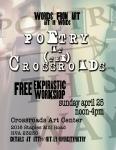 ekphrastic workshop at Crossroads Art, April 2014