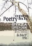 open mic night at taZa, February 2015