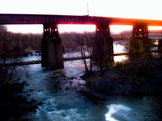 pipeline sunset